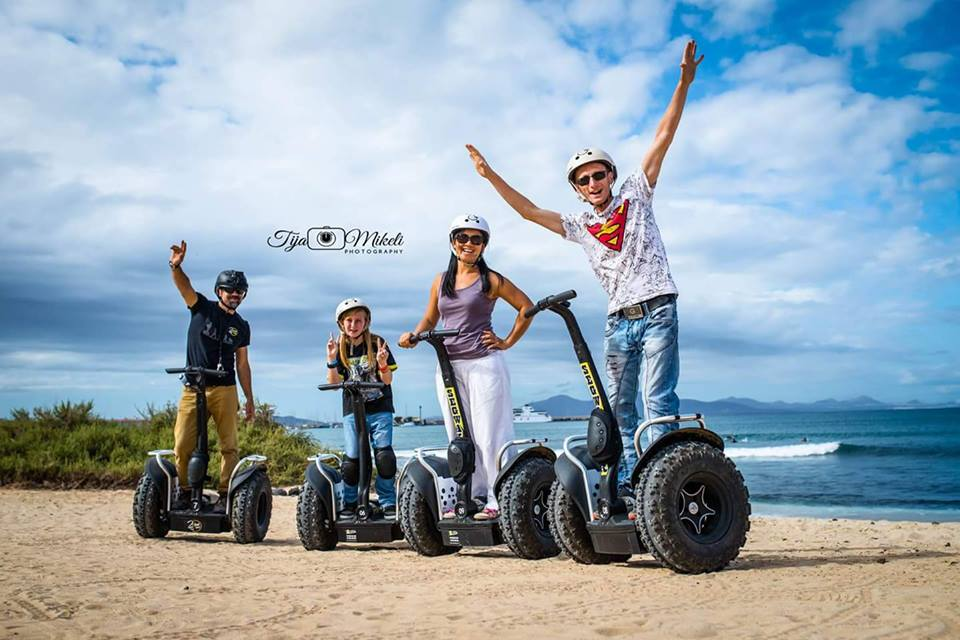 Two wheel Segway Tours Corralejo, individual tours, hourly ot daily rentals.