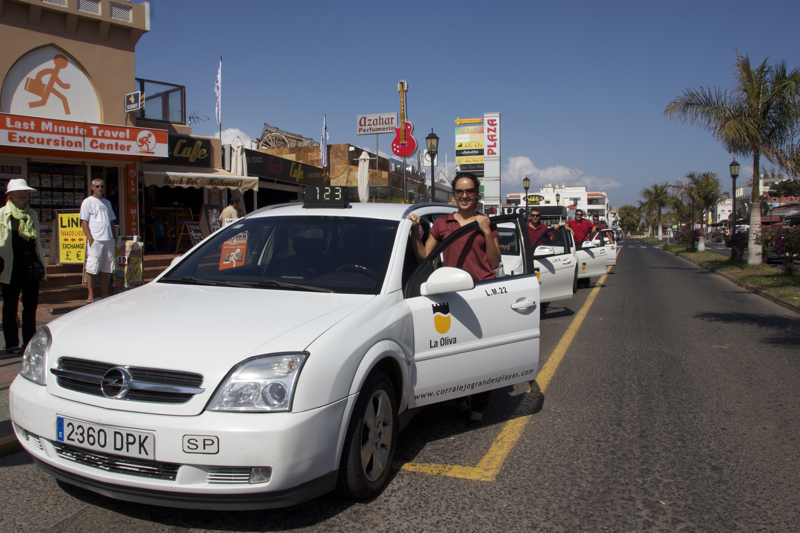 Corralejo taxi - axis are parked straight in front of you as you come out of the arrivals area from the main airport building