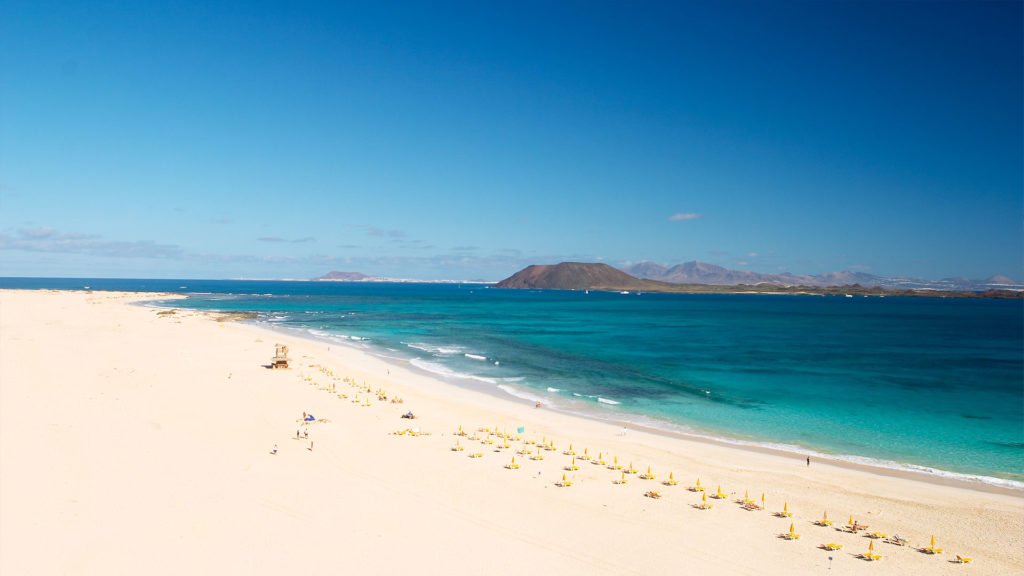Corralejo beaches and dunes.