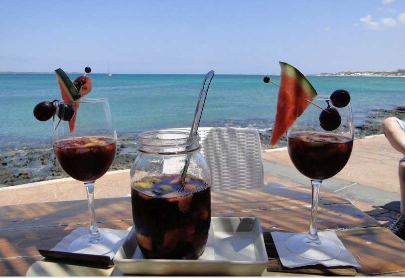 Corralejo Agua - a great range of cocktails to choose from.